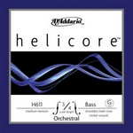 D'Addario Helicore Orchestral Bass Single G String, 3/4 Scale, Medium Tension