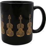 Aim AIM1804 Violin Mug Black and Gold