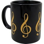 Aim AIM1802 G-Clef Mug 3-D Black and Gold