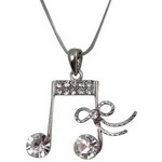 Aim N404 Ribbon with Rhinestone Necklace