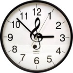 "Aim AIM2806 G-Clef 10"" Wall Clock"