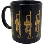 Aim AIM1808 Trumpet Mug Black and Gold