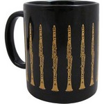 Aim AIM1806 Clarinet Mug Black and Gold