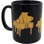 Aim AIM1801 Grand Piano Mug 3-D Black and Gold