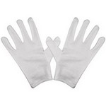 Grover 1001-LG Large Cotton White Marching Gloves