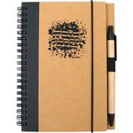 Aim AIM48903 Recycled Music Notes Notebook with Pen