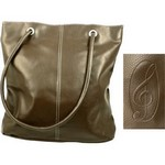 Aim AIM46701 Brown Pebble Stone G-Clef Tote