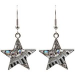 Aim ER399 Earring Stars with Keyboard & Crystals