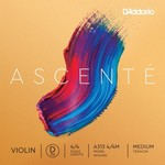 D'Addario Ascente Violin Single D String, Medium Tension