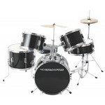 Drumfire DKJ5500-GB 5-Piece Junior Drum Set - Gloss Black