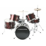Drumfire DKJ5500-WR 5-Piece Junior Drum Set - Wine Red