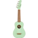 Fender 0971610557 Venice Soprano Uke, Walnut Fingerboard, Surf Green
