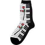 Aim AIM10018 Women's Socks with Keyboard Large Rose
