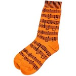 Aim AIM10047E Women's Socks with Sheet Music, Orange