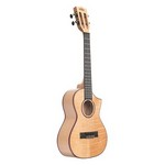 Kala KA-ASFM-T-C Satin Solid Flame Maple Tenor Cutaway Ukulele