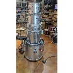 Used DDrums D2 Drum Set with Hardware, Silver