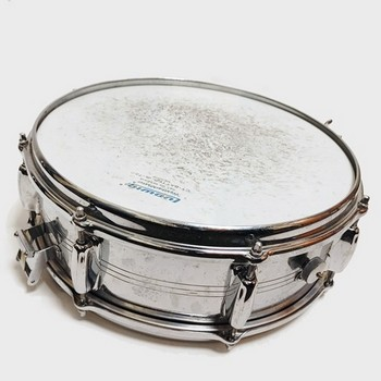 "Used Slingerland 14"" Chrome Snare Drum with Snare and Case"